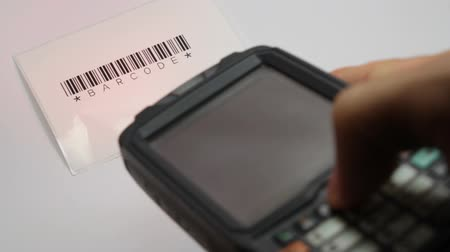 сканирование : handheld scan barcode test