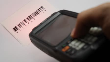 сканер : handheld open completed barcode test