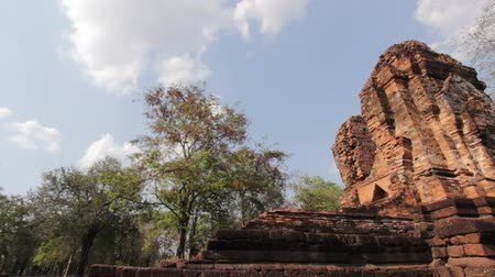 zamek : Srithep historical park at phetchabun thailand, dolly shot