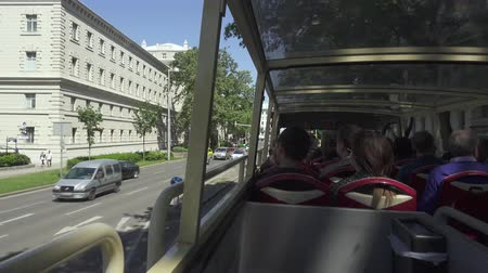 VIENNA, AUSTRIA - MAY 2018 excursion in an open double-decker bus around the city of Vienna