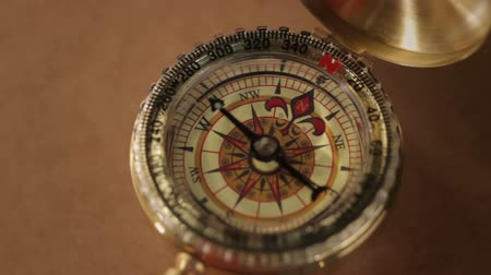enstrüman : a compass with swinging needle looking for North