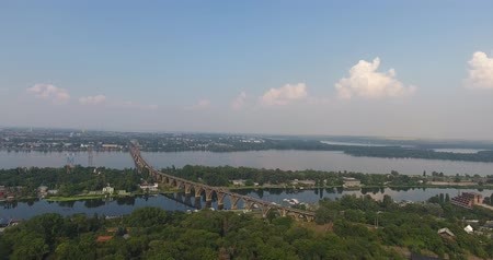 kolínská voda : Aerial view of the city and river with railway bridge