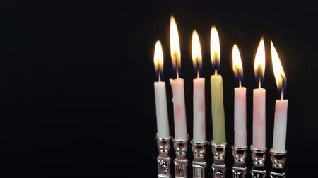 menorah : Jewish holiday hannukah symbols - menorah,