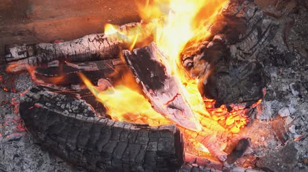 ember : fire wood for barbecue charcoal Burning wood and coal