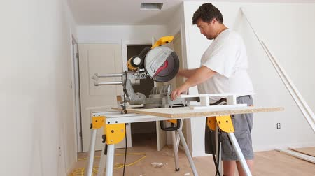 trim : Base Board cutting miter saw , concept building and repair