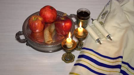 tallit : Rosh hashanah jewish New Year holiday concept.