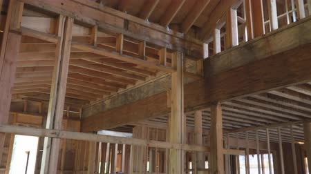 truss : Abstract of Wood Home Framing at Construction Site.