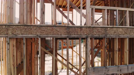 truss : House timber frame for a progressing house a new development timber