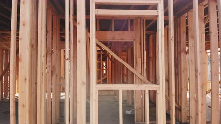 dach : Building construction, wood framing structure at new property development site