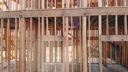 truss : New construction of a house Framed New Construction of a House Building the ground up