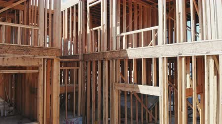 unfinished : New home construction on timber frame a new development building