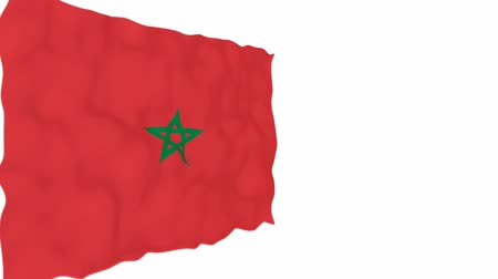 marrocos : Flag of Morocco. Official Morocco flag. Isolated waving Morocco national flag on white  background.