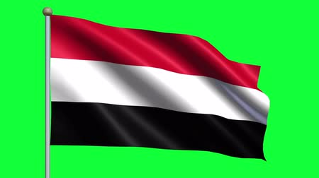 yemen : Flag Of Yemen Animation Loop