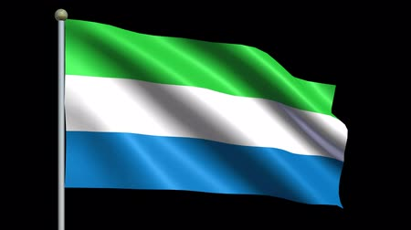 sierra leone flag : Flag Of Sierra Leone Animation Loop