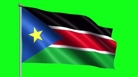 güney : Flag Of South Sudan Animation Loop Stok Video