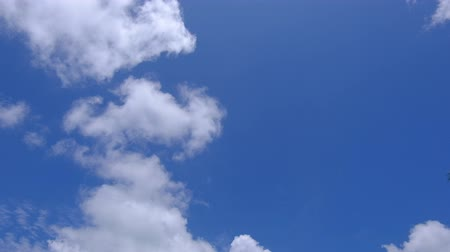 hava durumu : cloud and blue sky. concept for forecast and meteorology Stok Video