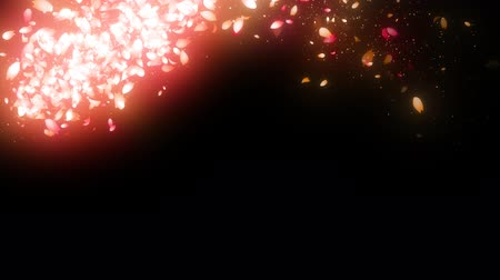 формы сердца : sparkling graphic particles Стоковые видеозаписи