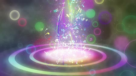 notes : sparkling graphic particles Stock Footage