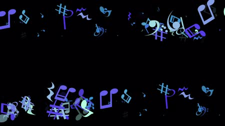 graphic particles shaped musical notes Wideo