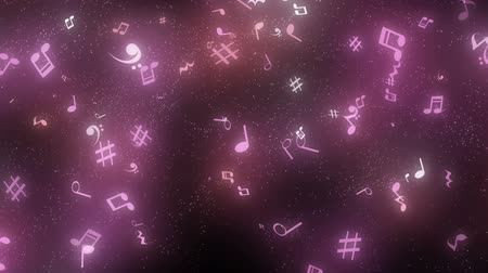 graphic particles shaped musical notes Stok Video