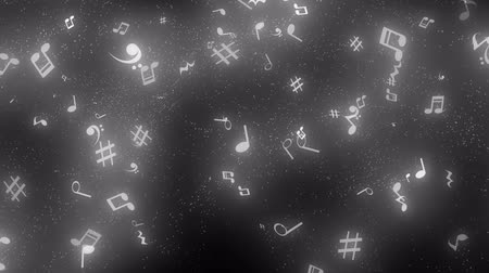 graphic particles shaped musical notes Vídeos