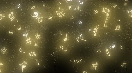 фасонный : graphic particles shaped musical notes Стоковые видеозаписи