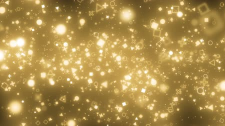 visual effects of sparkling graphic particles Stok Video