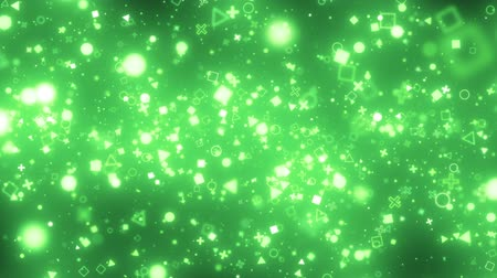visual effects of sparkling graphic particles Vídeos