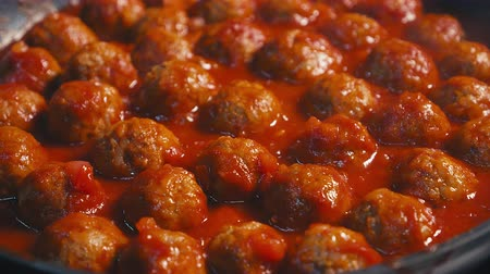 saute : Grilled meatballs, little cutlets Close up