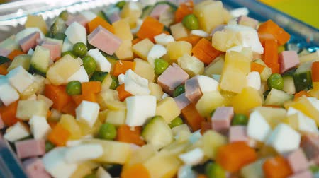 okurka : The mixed vegetables for salad