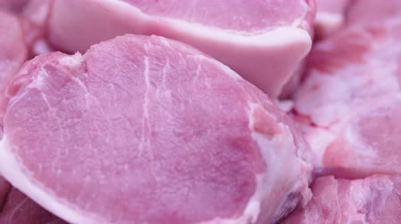 ветчина : Fresh Raw Meat in a counter of market