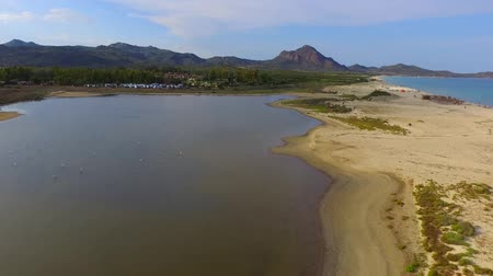 The beautiful beach of Costa Rei during the summer period, shot from above with the drone: An unprecedented natural panorama!