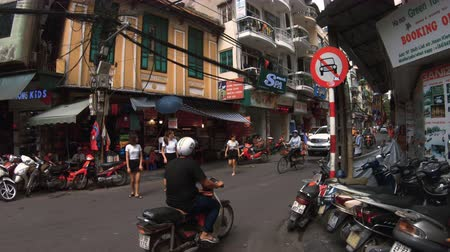 south east asia : Hanoi, Vietnam - 10th October 2019: Walking down the busy streets of Hanoi