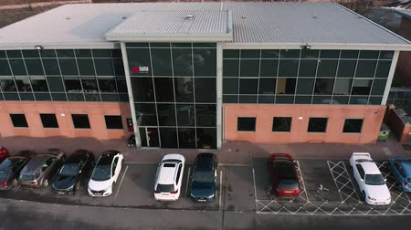 Sheffield, UK - 16th December 2019: Sumo digital offices in Sheffield, aerial footage. Independent game developer