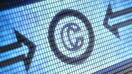 plagiarism : copyright icon on screen. Looping. Stock Footage