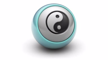 daoism : ying-yang icon on ball. Looping.