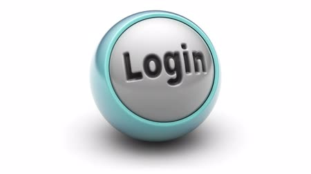 signup : Login on ball. Looping. Stock Footage