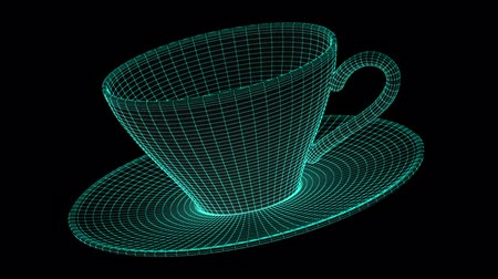 forma tridimensional : Cup. looping.