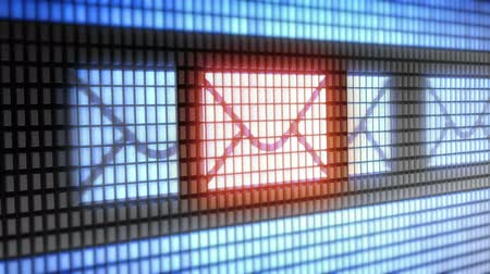 postabélyegző : sms icon on screen. Looping.