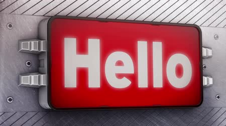 olá : Hello signage animation  Stock Footage