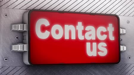 kontakt : Contact us signage animation  Wideo