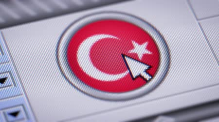 lira : Press button with flag of Turkey