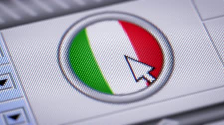 clique : Press button with flag of Italy