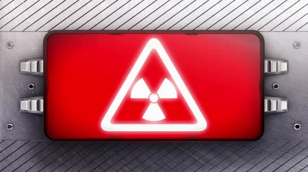 uyarmak : Danger icon on the signboard. Looping. Stok Video