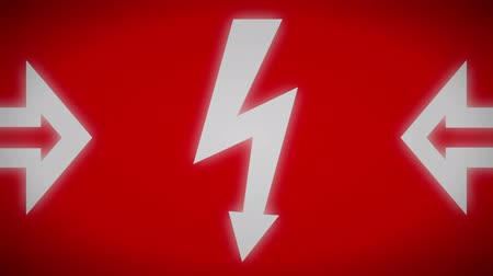 electro : Danger icon. Looping.