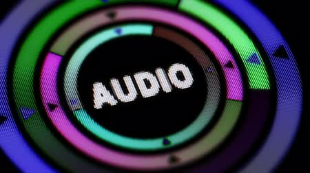 Audio icon. Looping. Stok Video