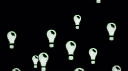 resourceful : Idea icons. Looping. Stock Footage