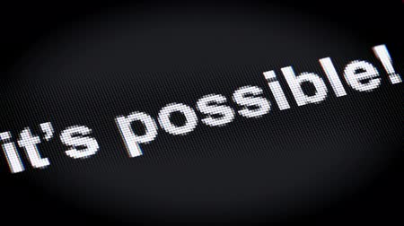 feasible : its possible! on a screen Stock Footage