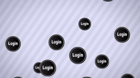 signup : Falling Login icons. Looping. Alpha channel.