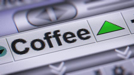 кофе : Index of Coffee on the screen. Up. Looping.